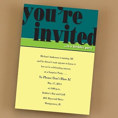 Party invitations printed wedding invitations birthday invitations filmwisefo Choice Image